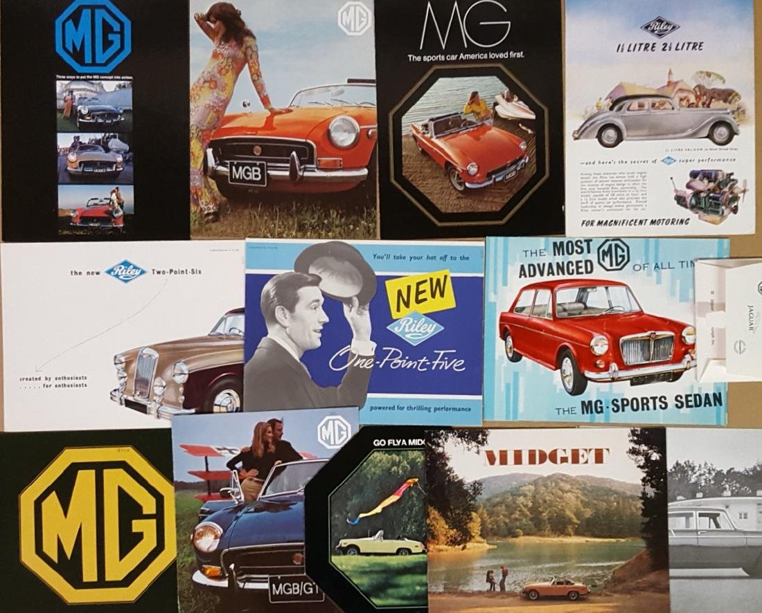 1930's-1960's MG and Riley brochures - 2