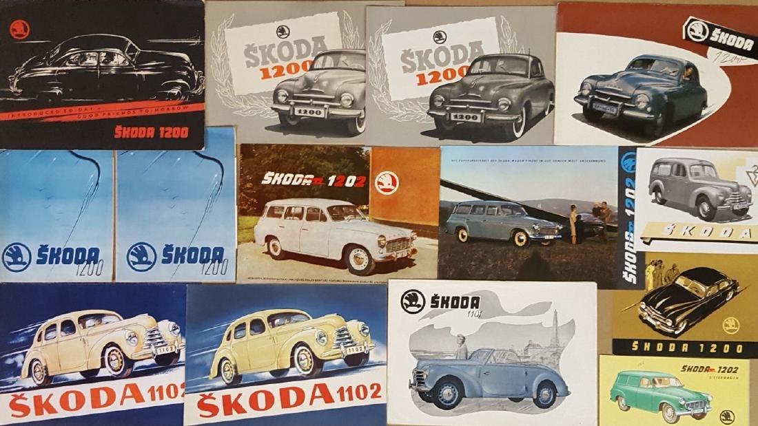 1949-1964 Skoda brochures - 2