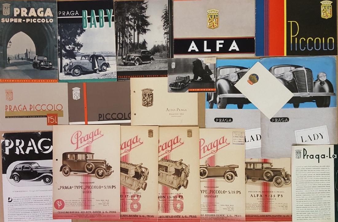 1930-1947 Praga  brochures