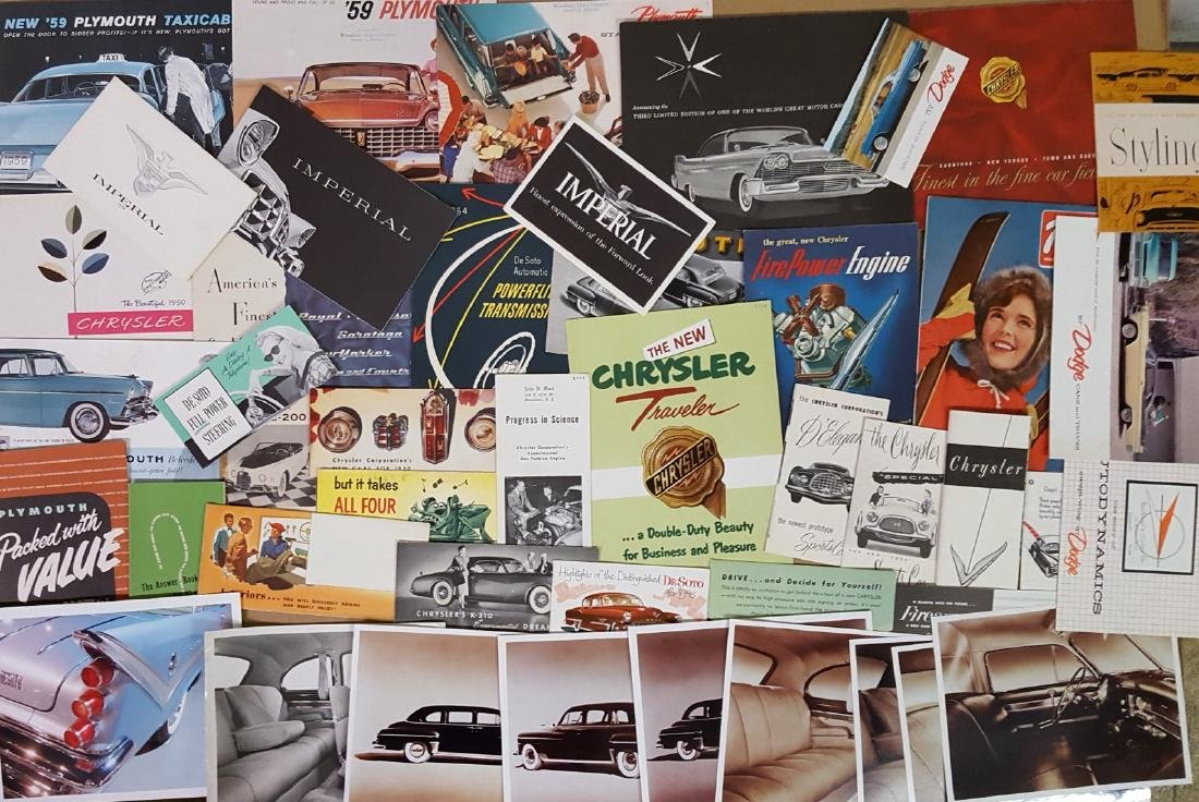 1949-1959 Chrysler products brochures