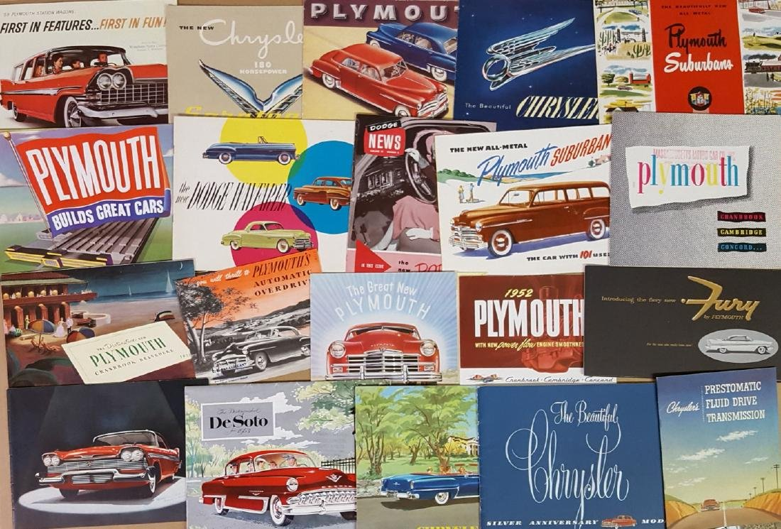 1949-1959 Chrysler products brochures - 2
