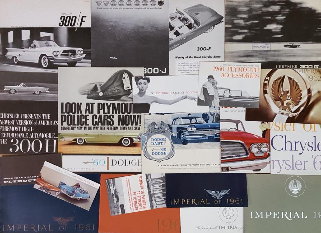 1960-1965 Chrysler products  brochures