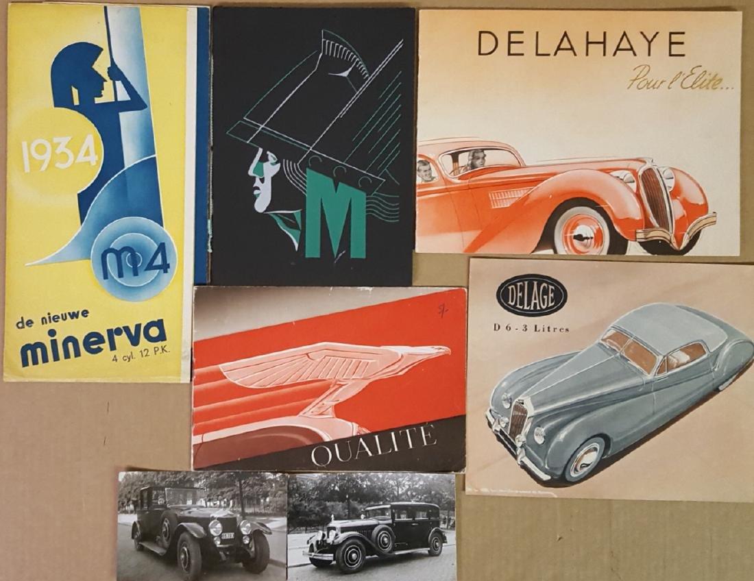 1930's Euro quality car catalogs