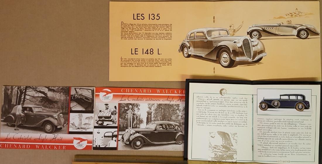 1930's Euro quality car catalogs - 2
