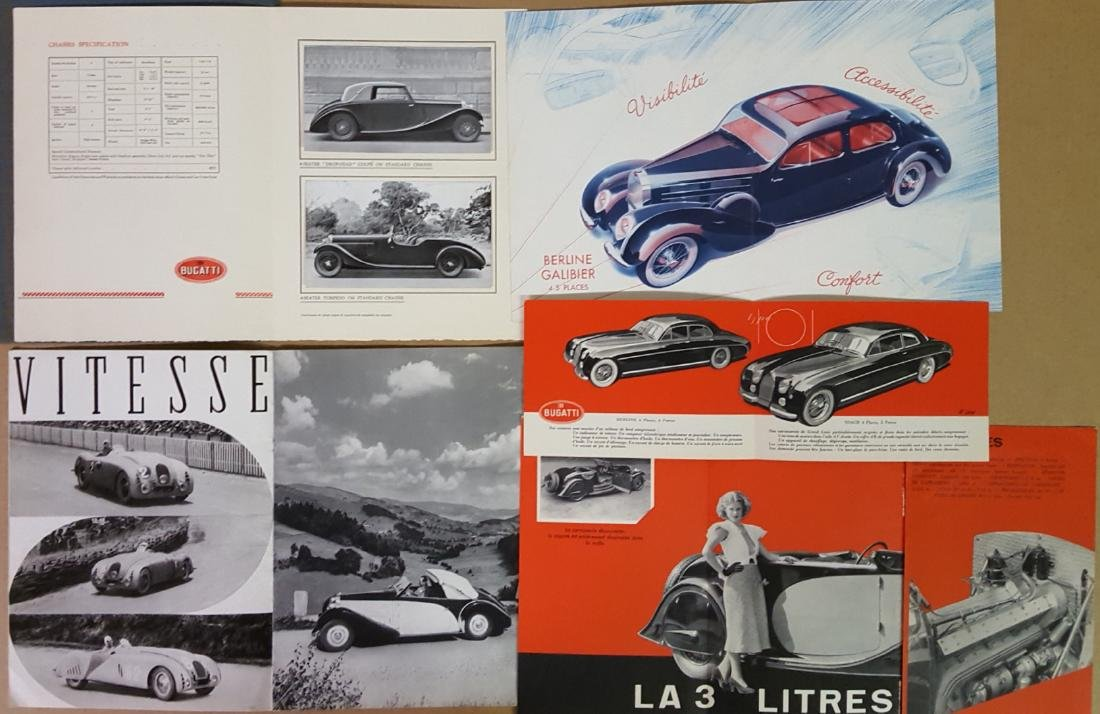 Bugatti brochures - four Type 57, and one Type 101 - 2