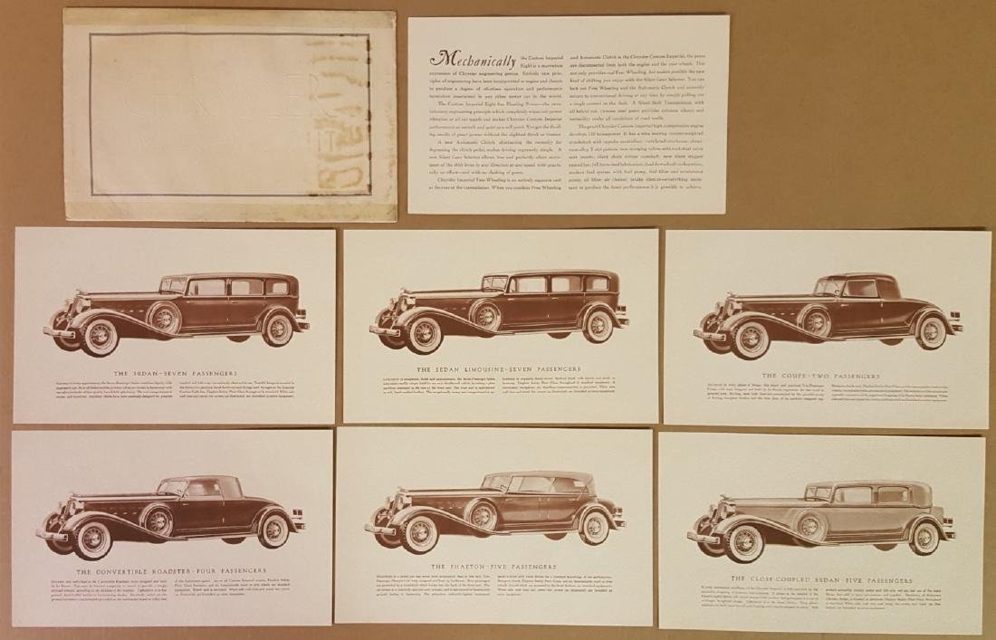 1933 Chrysler Custom Imperial portfolio