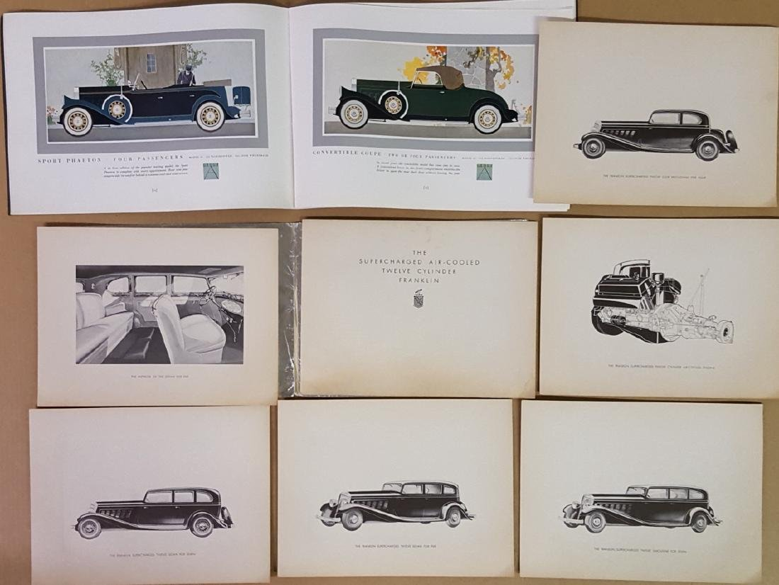 Seven late 1920's - early 1930's brochures - 2