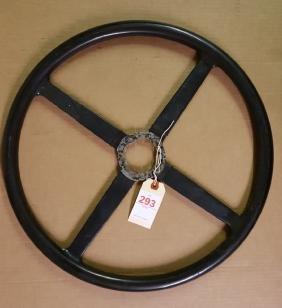 Vintage Bentley steering wheel, 18 inch dia