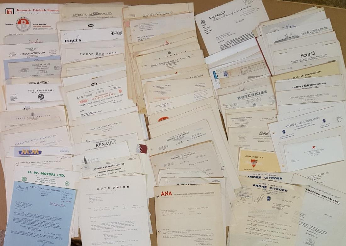 Over 300 auto manufacturers letters - 2