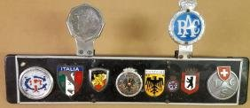 Ten badge display on Euro style license plate