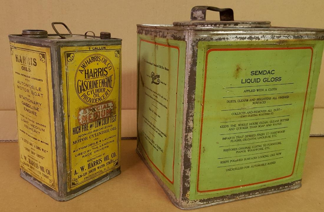 Two early petroliana cans - 2