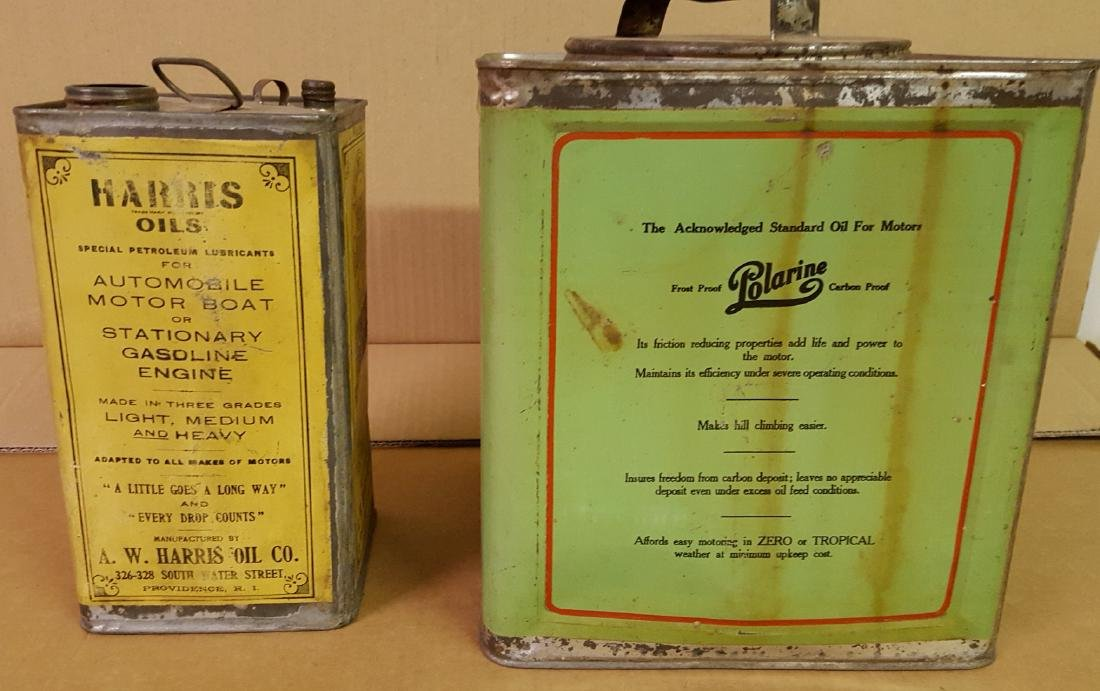 Two early petroliana cans - 3