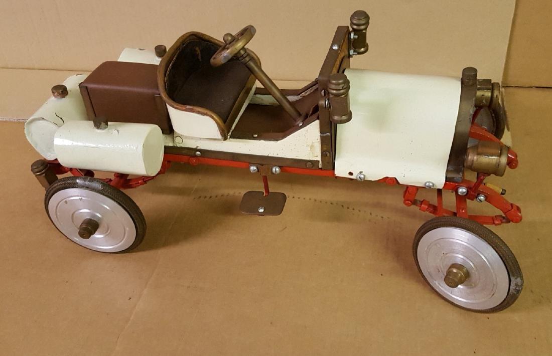 Two folk art model cars - 2