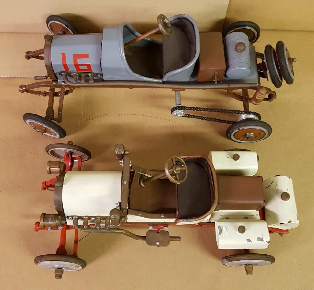 Two folk art model cars - 3