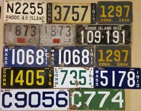 Lot of NE state license plates
