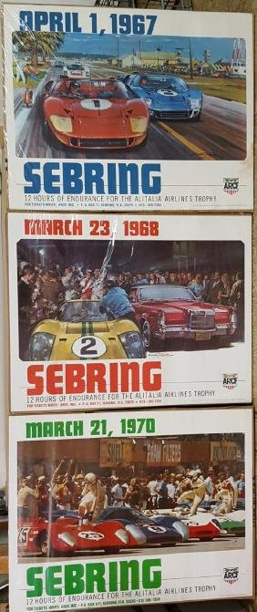 Three original Sebring posters