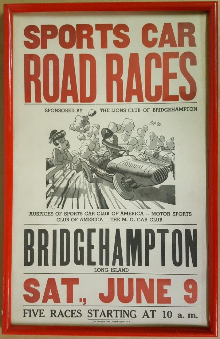 Original 1951 Bridgehampton poster