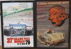 Two posters - 1954 Porsche, 1972 Monaco