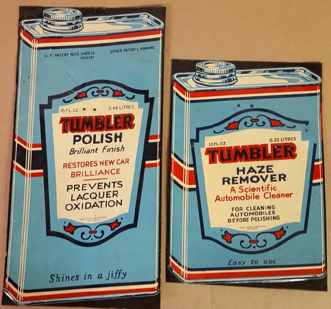 Two Tumbler polish signs