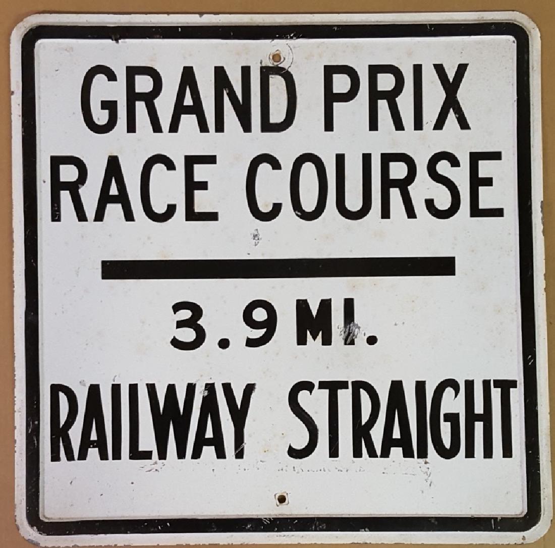 1949 Watkins glen race track sign