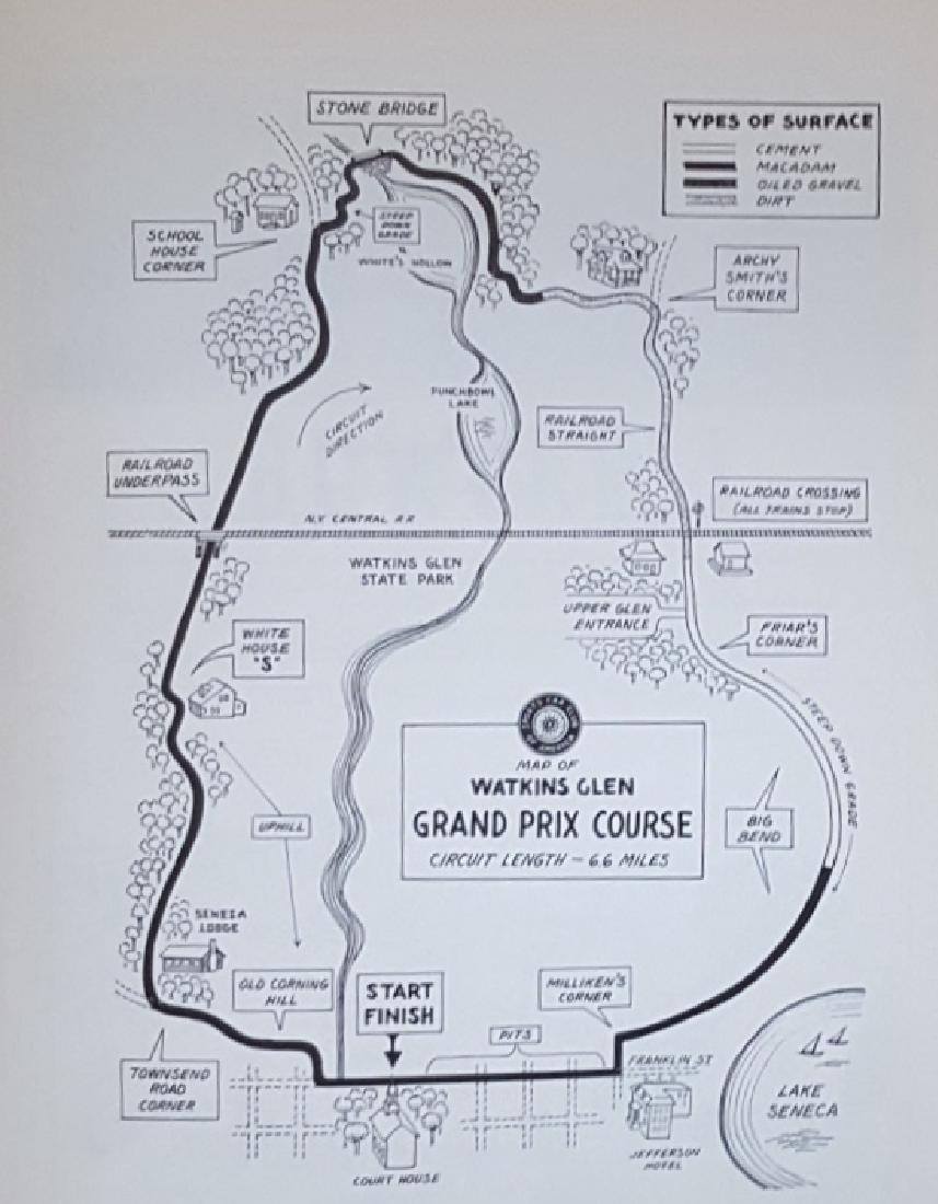 1949 Watkins glen race track sign - 2