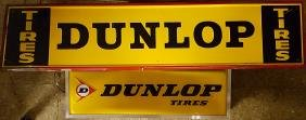 Two NOS Dunlop tire signs