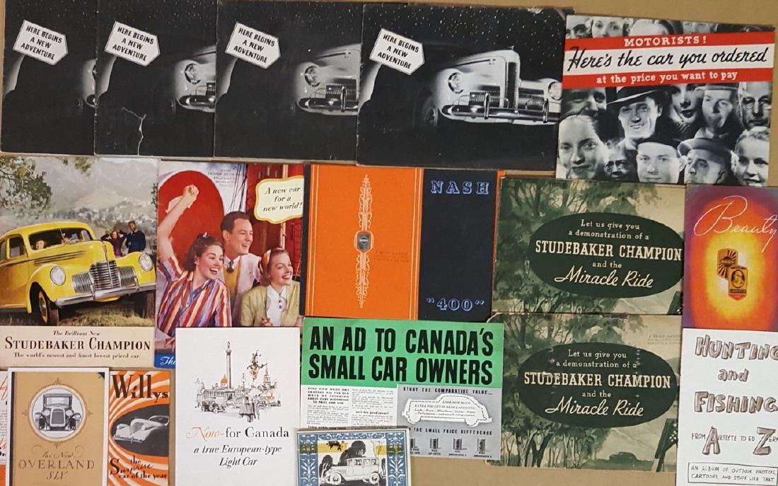 1920's-42 Graham, Studebaker, Nash, Willys literat