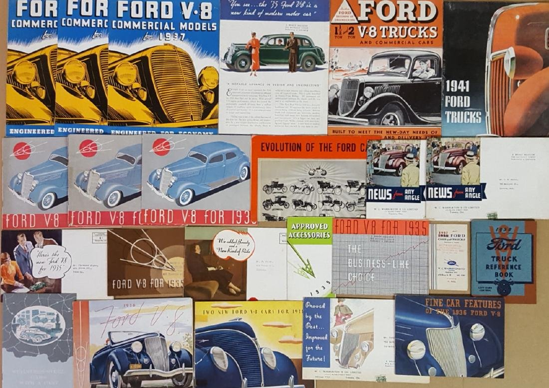 1935-1942 Ford brochures