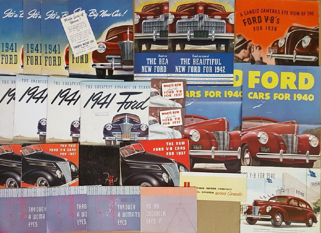 1935-1942 Ford brochures - 2