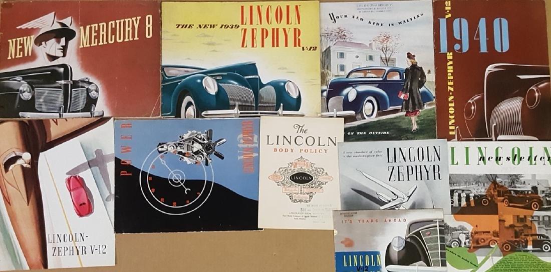 1920's-30's Lincoln, Mercury brochures