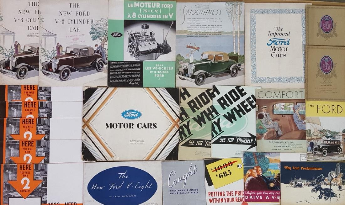 Teens-1934 Ford car and truck brochures