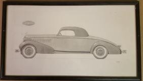 1934 Cadillac Judkins body rendering