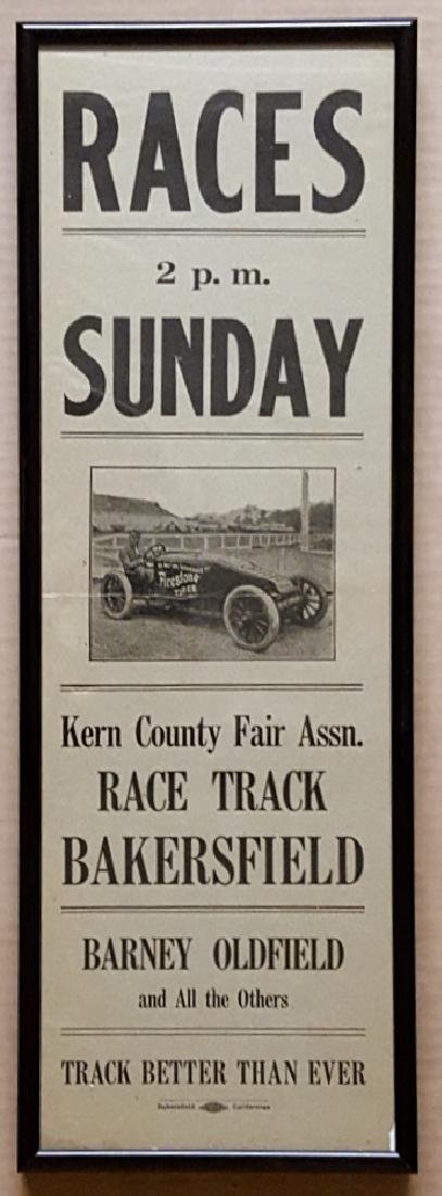 Original race ace poster for a Bakersfield CA even