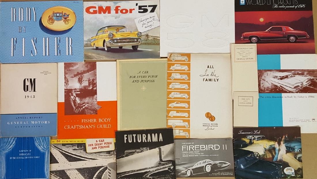 Late 1920's-1970's GM Corp brochures