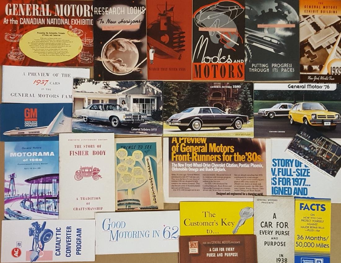 Late 1920's-1970's GM Corp brochures - 2