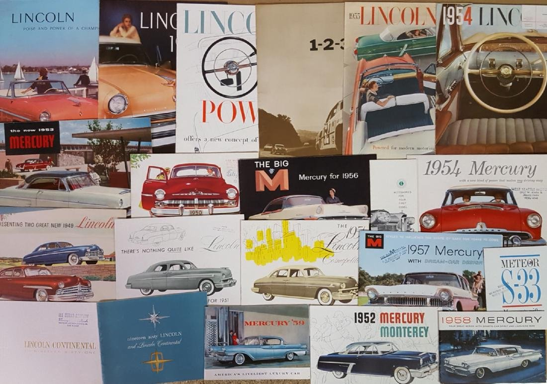 1950's-1960's Lincoln, Mercury, Edsel brochures