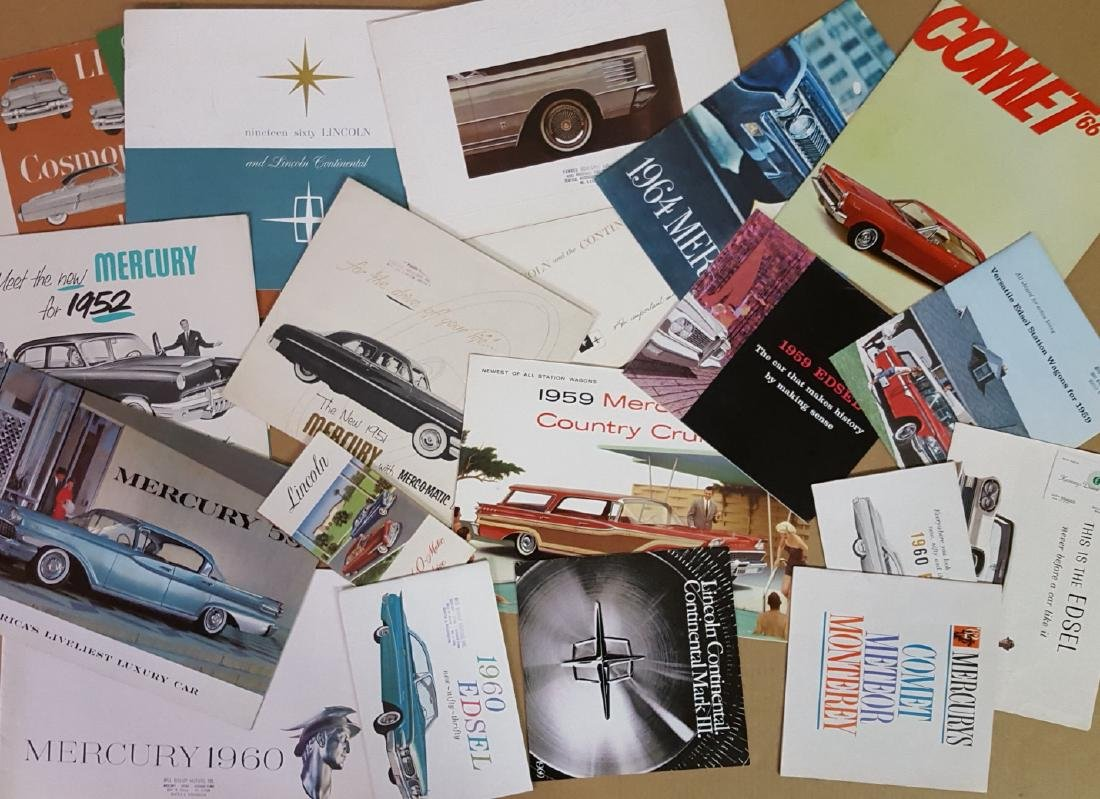 1950's-1960's Lincoln, Mercury, Edsel brochures - 2