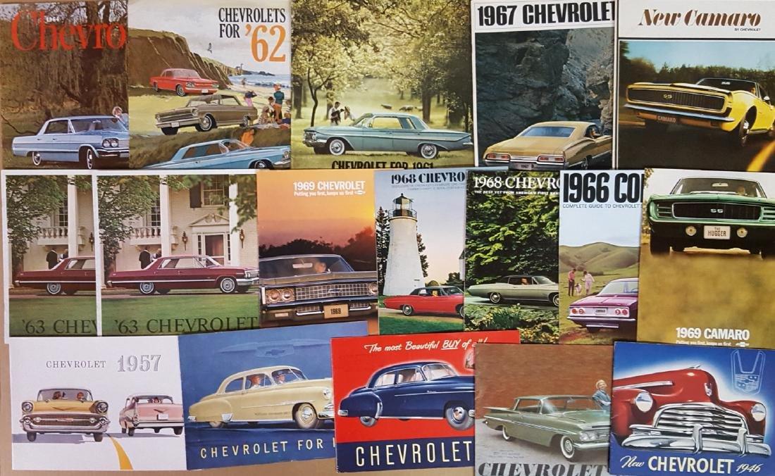 1946-1960's Chevrolet and Corvette brochures
