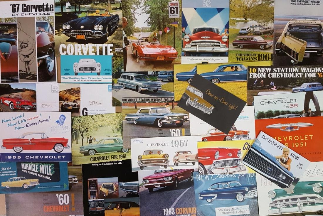 1946-1960's Chevrolet and Corvette brochures - 2