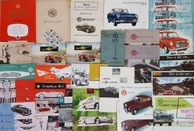 1940's-1970's MG brochures