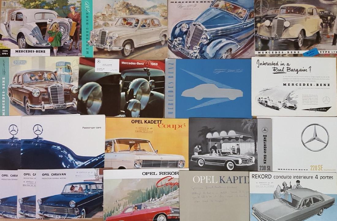 Mercedes Benz, Opel, Borgward brochures