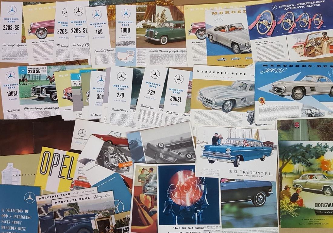 Mercedes Benz, Opel, Borgward brochures - 2