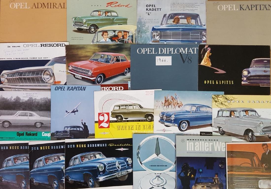 Mercedes Benz, Opel, Borgward brochures - 3