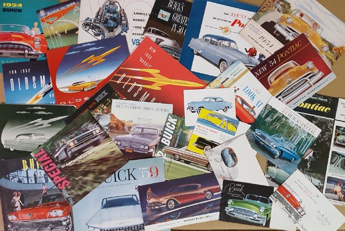 1953 - 1960's Buick, Olds, Pontiac brochures