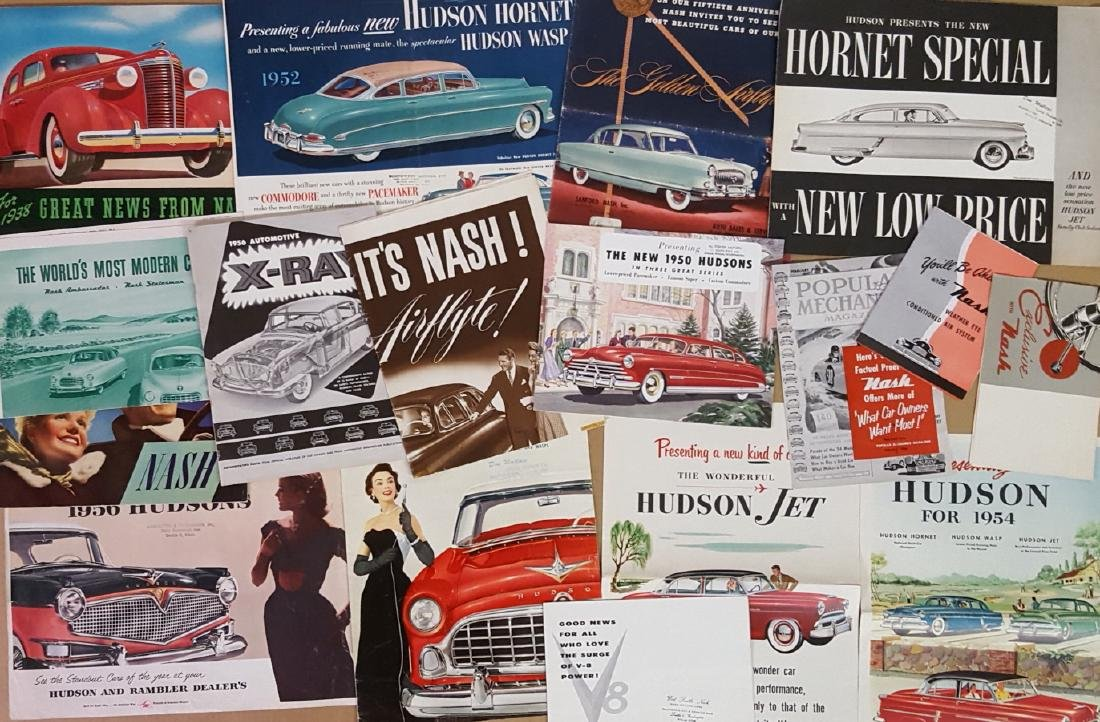 Late 1930's-mid 1950's Hudson and Nash brochures