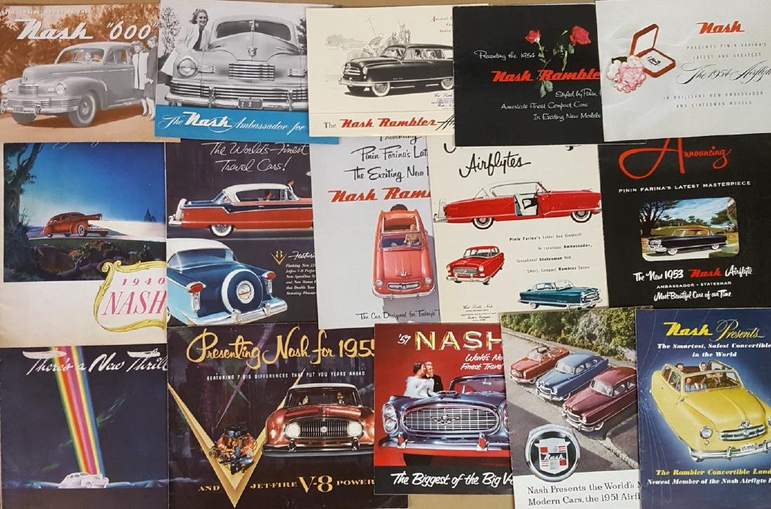 Late 1930's-mid 1950's Hudson and Nash brochures - 2