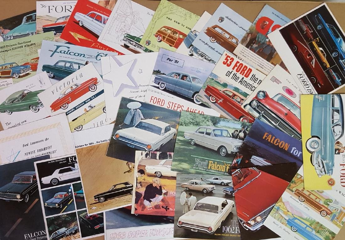 1950's-1960's Ford, Thunderbird, Mustang brochures