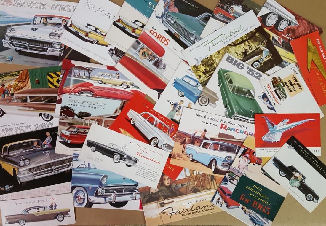 1950's-1960's Ford, Thunderbird, Mustang brochures - 2