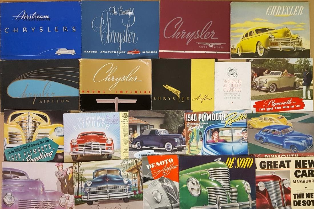 1930's-1940's Chrysler products brochures
