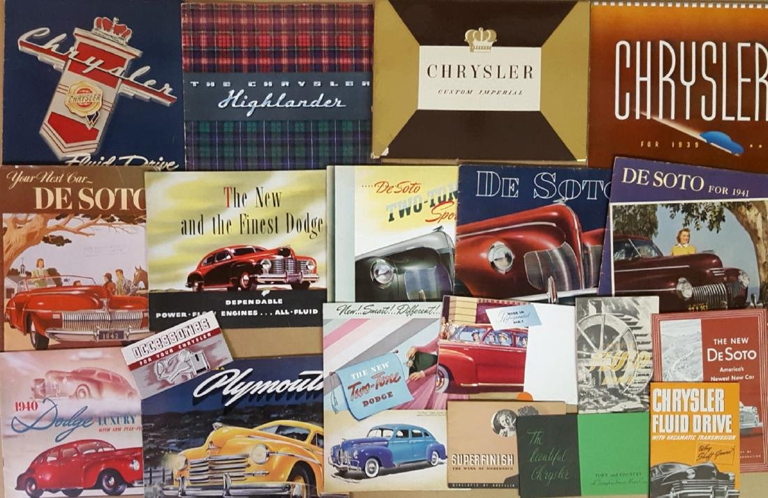 1930's-1940's Chrysler products brochures - 2
